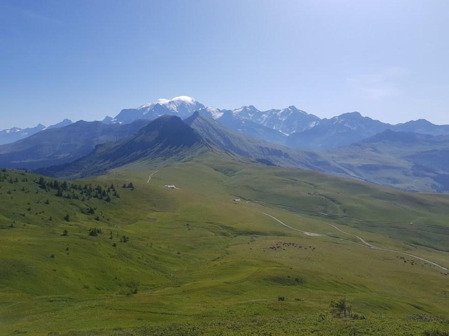 panorama sur le trail de megeve