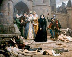 Un matin devant la porte du Louvre, huile sur toile d'Édouard Debat-Ponsan, 1880, Clermont-Ferrand, musée d'art Roger-Quilliot.