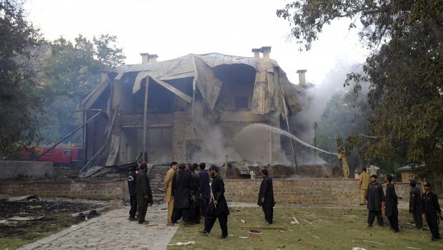 Militants destroy house used by Pakistan's founder