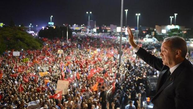 Turkish PM cheered in show of strength as protests go on