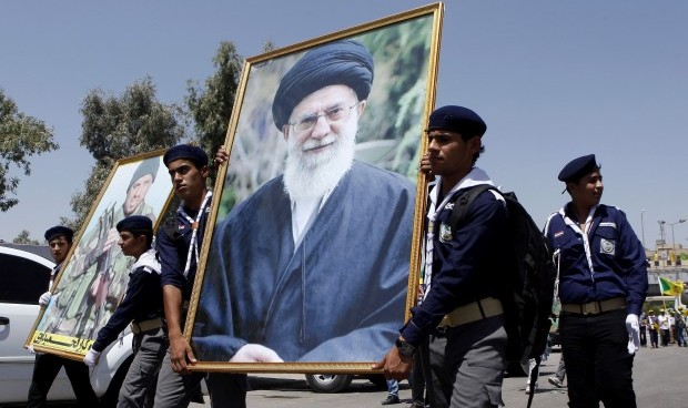 Khomeini image sparks brawl in Iraqi parliament