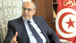 File photo of Hamadi Jebali in Tunis in July 2013. (Asharq Al-Awsat)