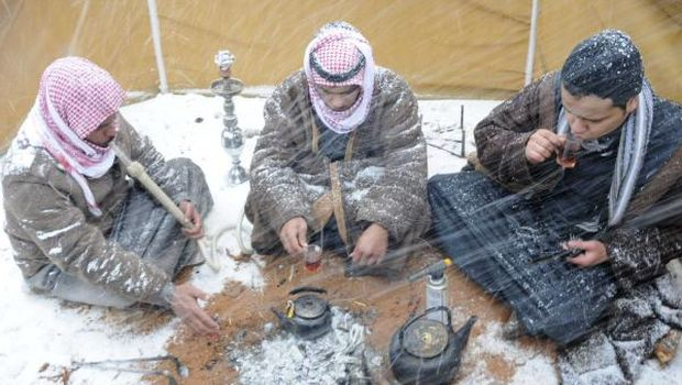 Saudis suit up for winter