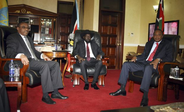 African leaders in South Sudan for peace talks