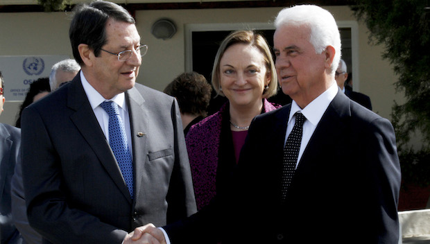 Leaders of divided Cyprus resolve new try at power-sharing deal