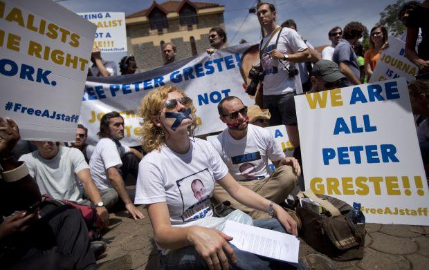 Twitter campaign to free Al-Jazeera staff gains momentum