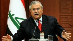 Iraqi President Jalal Talabani speaks during a press conference in Ankara in this March 7, 2008, file photo. (AFP PHOTO/ADEM ALTAN)