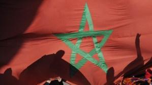 Moroccan flag. (TOPSHOTS/AFP PHOTO/FADEL SENNA)