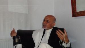 Ashraf Ghani speaks to Asharq Al-Awsat in Kabul, Afghanistan, on April 4, 2014. (Asharq Al-Awsat)