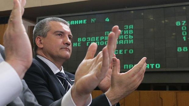 Crimea's parliament adopts Kremlin-backed constitution