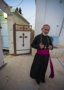 Father Toma. (Asharq Al-Awsat/Hannah Lucinda Smith)