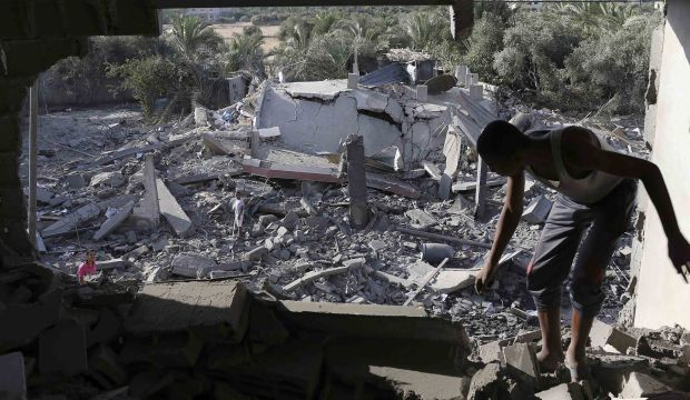Israel says shoots down Gaza drone as calls for truce mount