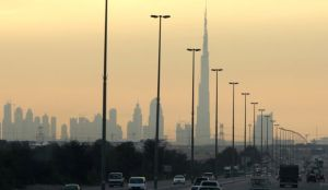 Dubai's Burg Khalifa, the world's tallest building, is seen under construction in this January 20, 2008, file photo. Dubai has announced plans to send a satellite to Mars. (AP Photo/Kamran Jebreili, File)