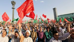 Iranians protest against the Islamic State of Iraq and Syria (ISIS) on June 24, 2014 at Imam Hossein Square in Tehran. (Atta Kenare/AFP/Getty Images)