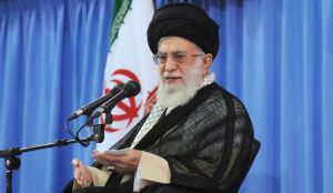 Iran's Supreme Leader, Ayatollah Ali Khamenei, addresses a meeting of university professors on July 2, 2014. (Leader.ir/HANDOUT)
