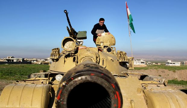 Iraqi, Kurdish military forces launch attack on Mosul environs