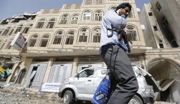Saudi-led airstrikes target Houthi weapons caches in Sana'a