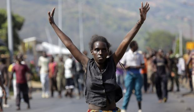 Burundi protesters gather in capital, defying threat of crackdown