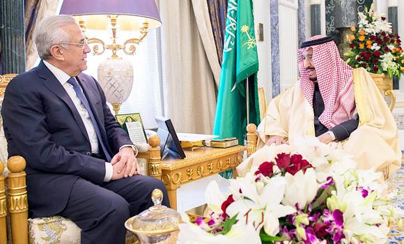 Custodian of the Two Holy Mosques Receives Lebanese Former President
