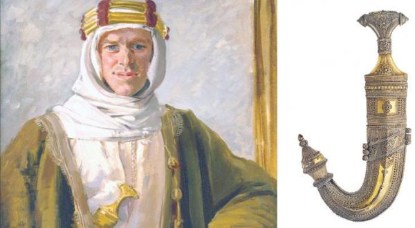 Lawrence of Arabia's Dagger, Robes Cause Turmoil in Britain
