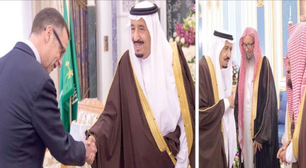 King Salman Receives Ethiopian President, European Official