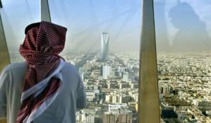 Saudi citizen overlooking the capital, Riyadh. - AFP