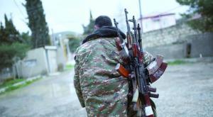Self Defense Forces soldier in Nagorno-Karabakh