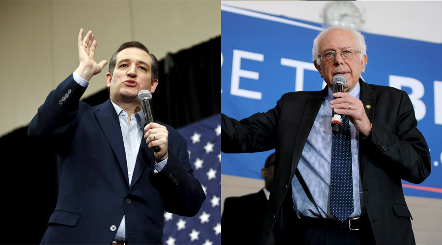 Republican Cruz and Democrat Sanders Win over Trump and Clinton
