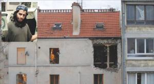 The apartment, which Hasna Ait Boulahcen and Abdel Hamid Abaaoud died in Saint-Denis, north of Paris