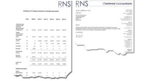 Two images for Cameron's Tax records as published by his office