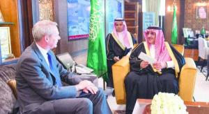 Crown Prince Mohammed bin Nayef sitting with German Ambassador to Saudi Arabia on Monday