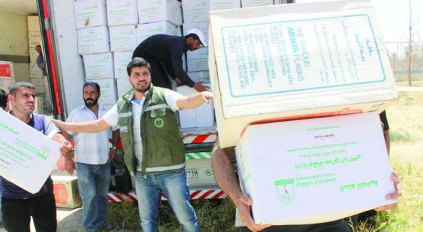 Saudi National Campaign Distributes 707 Food Aid Baskets to Syrian Refuge Families