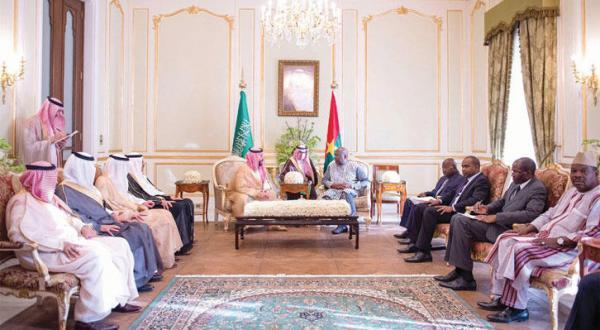 Saudi Deputy Crown Prince Discusses Fighting Terrorism with President of Burkina Faso