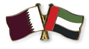Qatar and UAE Flags
