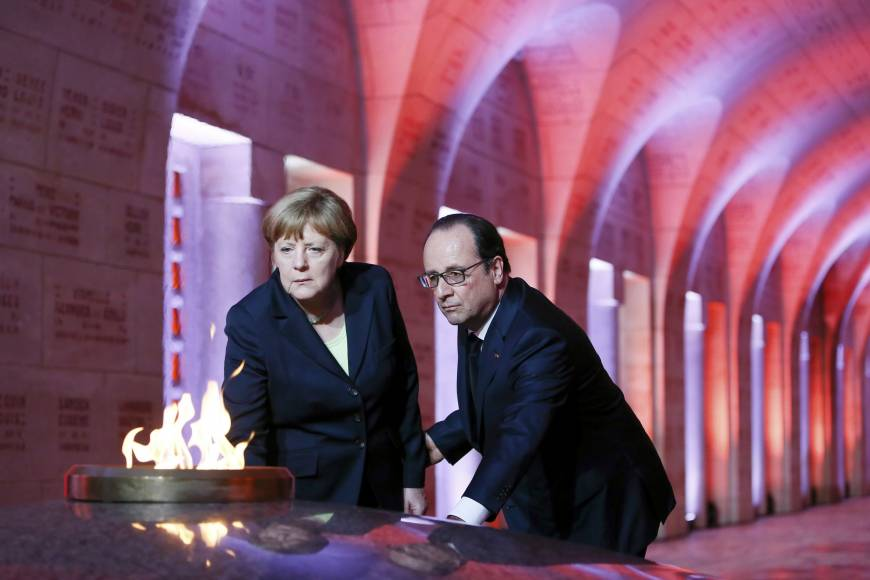 "Hollande, Merkel Celebrate with ""Hope Message"" 100 Years since Verdun Bloody Battle"