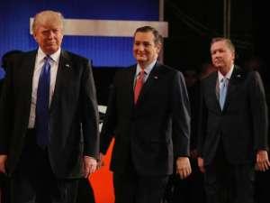 Donald Trump, Ted Cruz and John Kasich- REUTERS/Jim Young