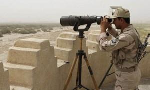 An Iranian border guard is seen at Pak-Iran border. (AFP)