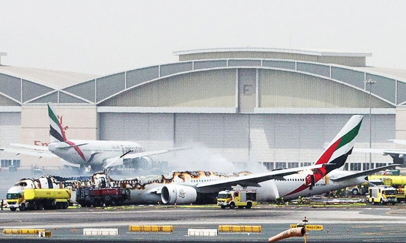 Emirates Plane Crash Lands at DXB, 300 People Survive