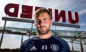 Luke Shaw at Manchester United's training ground. 'It's hard to describe how good it feels,' he says of being back in the first team.