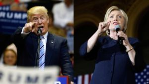 From left, Republican presidential candidate Donald Trump and Democratic presidential candidate Hillary Clinton. Reuters