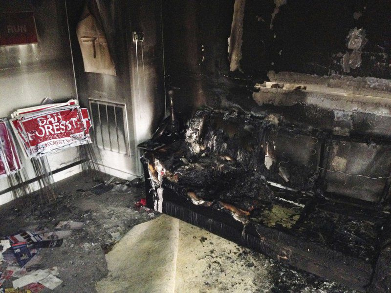 Republican Electoral Headquarters Firebombed