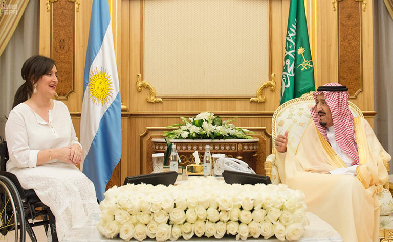 Custodian of the Two Holy Mosques Holds Talks with Argentinian VP