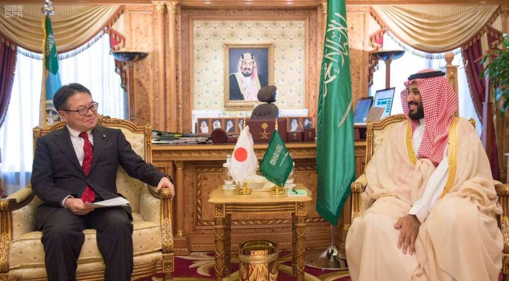 Deputy Crown Prince Receives Japanese Delegation