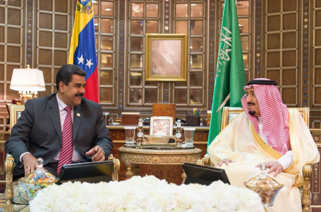 King Salman Meets with Venezuelan President