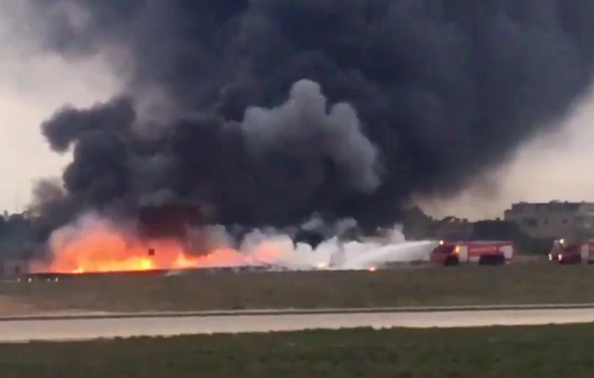 Plane En Route to Libya Surveillance Trip Crashes in Malta