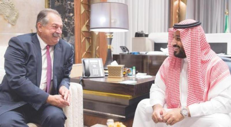 Saudi Deputy Crown Prince Meets CEO of Dow Chemical