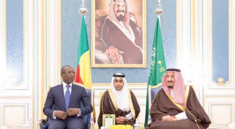King Salman bin Abdulaziz Receives President of Benin