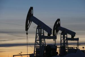 File photo of pump jacks at the Lukoil-owned Imilorskoye oil field outside the west Siberian city of Kogalym, Russia