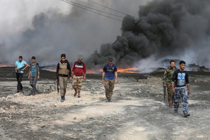 Iraqi Forces Battle ISIS inside Mosul