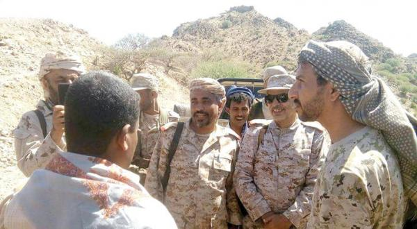 Yemen: Military Visits by Coalition Commanders Boost Morale of Pro-Government Fighters in Taiz, Lahij